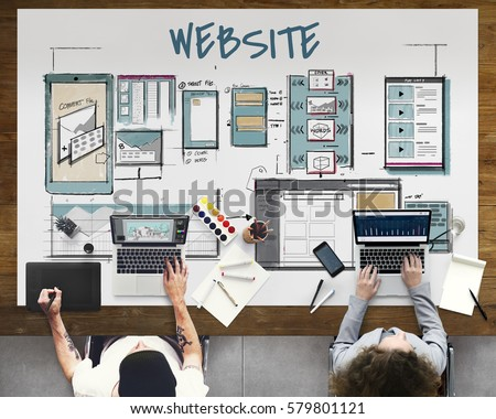 Web Template Layout Draft Sketch Stock Photo (Royalty Free ...