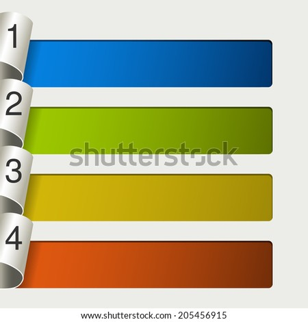 web template -  4 steps, options, banners - stock photo