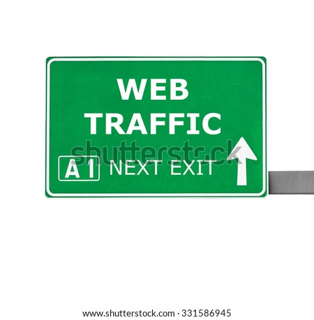 WEB TRAFFIC road sign isolated on white - stock photo