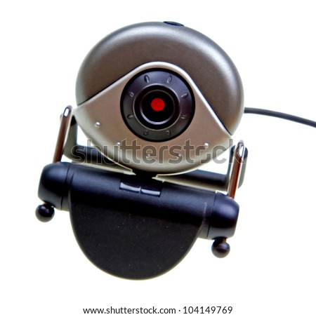Webcam isolated on white background