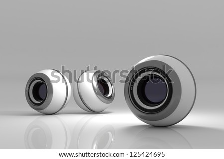 Webcam on an abstract background. - stock photo