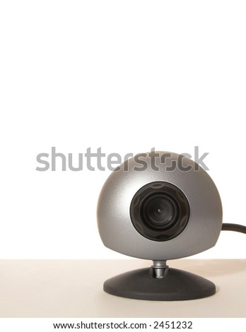 webcam on white background