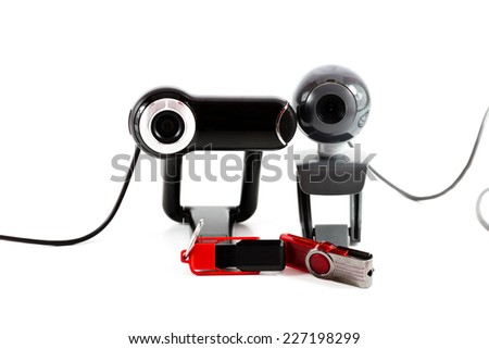 Webcam with Cable and Usb Stick