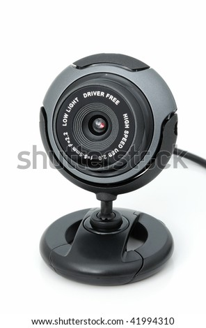 Webcamera for internet video-conference on a white background