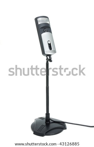 Webcamera for internet video-conference on a white background - stock photo