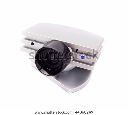 webcamera isolated on white - stock photo
