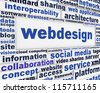 Webdesign message background. Internet technology poster design - stock photo