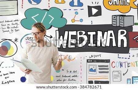 Webinar Web Seminar Technology Online Concept - stock photo