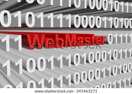 webmaster is presented in the form of binary code