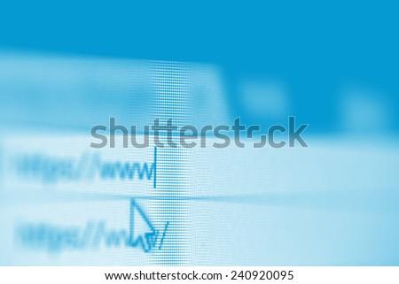 website address - stock photo