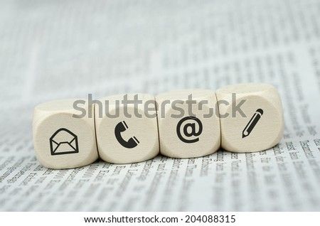 Website and Internet contact us page concept with black icons - stock photo