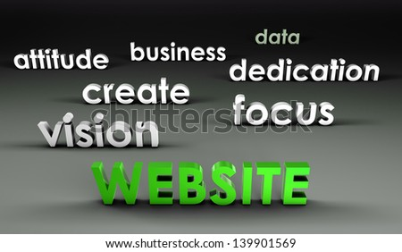 Website at the Forefront in 3d Presentation - stock photo