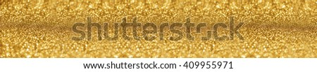 website banner image of shining golden glitter background. panorama - stock photo