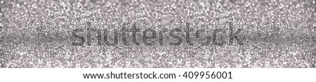 website banner image of shining silver glitter background. panorama - stock photo