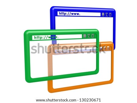 Website browsers - stock photo