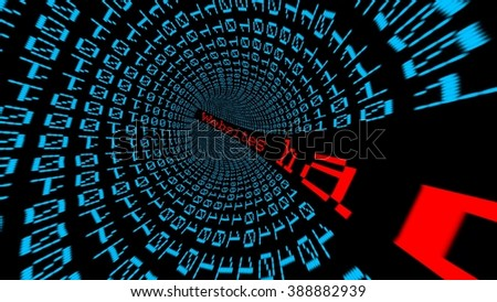Website data tunnel - stock photo