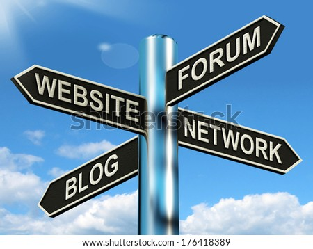 Website Forum Blog Network Signpost