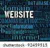 website  info-text graphics and arrangement concept - stock photo