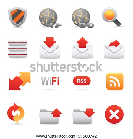 Website & Internet Icons Set | Red Series03 - stock photo