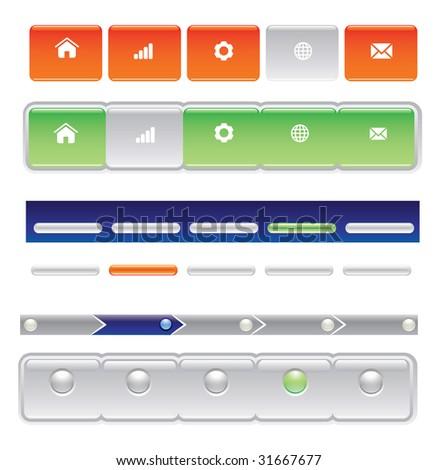 website navigation bar templates vector version stock illustration