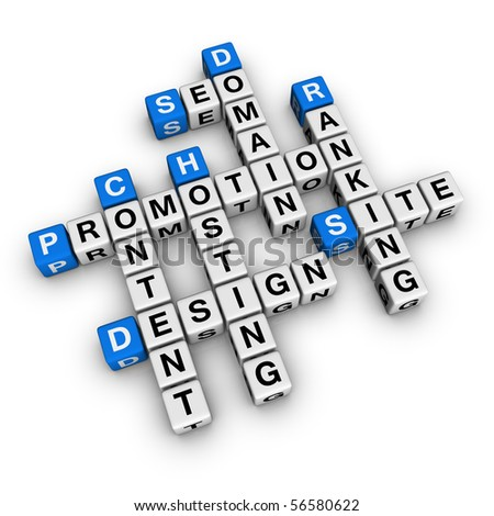website promotion (blue-white cubes crossword series)