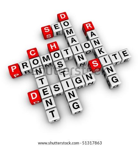 website promotion (crossword series) - stock photo