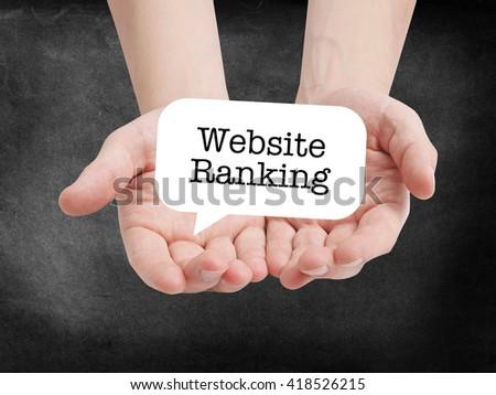 Website Ranking written on a speechbubble - stock photo