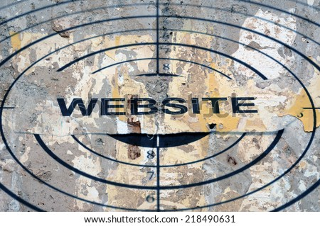 Website target - stock photo