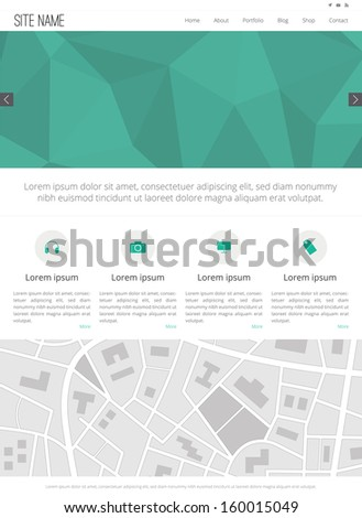 Website Template - Flat Design - stock photo