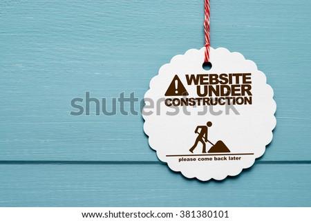 website under construction - stock photo