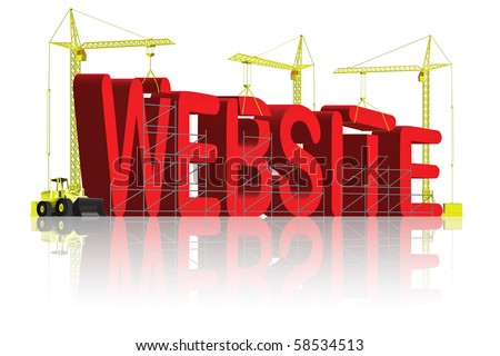 website under construction build your internet site get your domain name WWW - stock photo