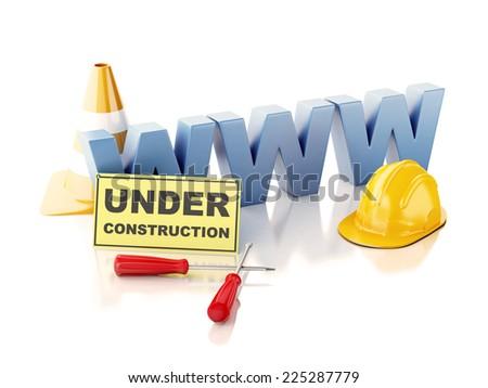 Website under construction concept. 3d illustration - stock photo