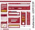 Website Web Design Element Template Frame Red - stock photo