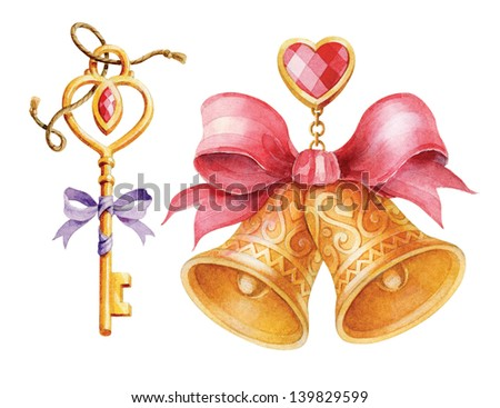 Wedding Accessories set. - stock photo