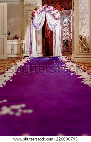 Wedding aisle is ready for ceremony  - stock photo
