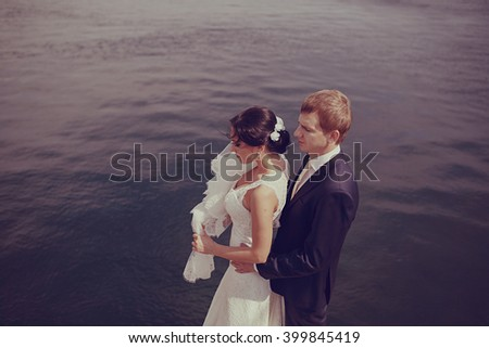 wedding at the sea