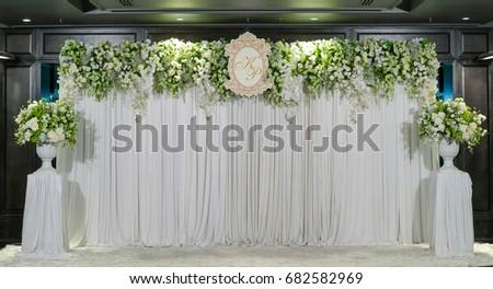 Wedding Backdrop Flower Decoration Stock Photo 361318943