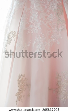 wedding background with silk, satin or cloth folds and drapes - stock photo