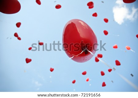 wedding balloons - stock photo