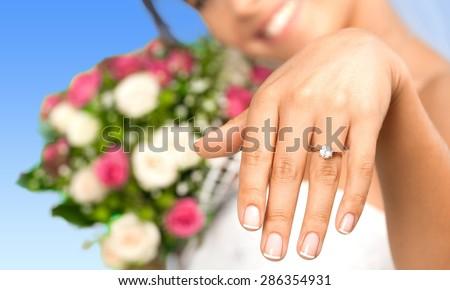 Wedding band, bridal, bride. - stock photo