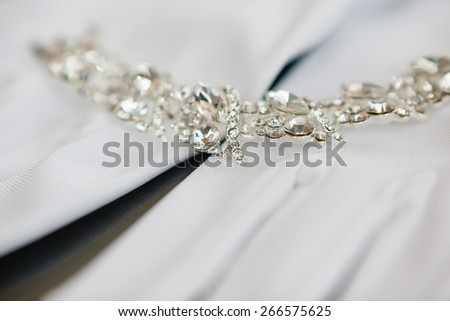 wedding Beautiful adornment on white - stock photo