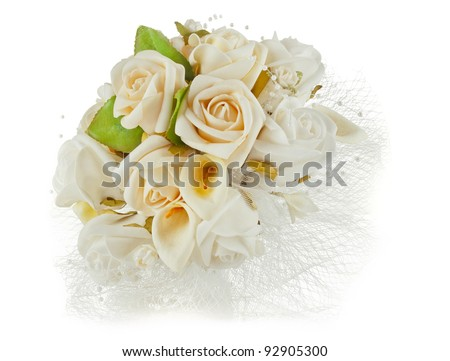 wedding bouquet for Valentine's Day - stock photo