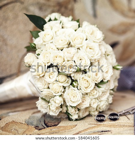 Wedding bouquet from roses
