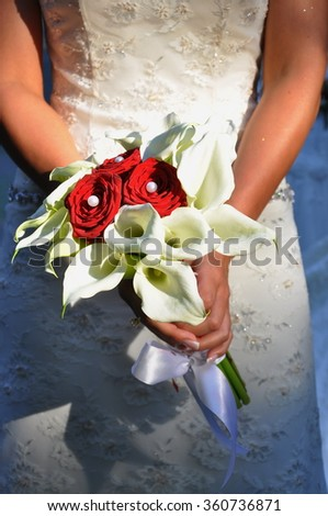 Wedding bouquet, of calla lily