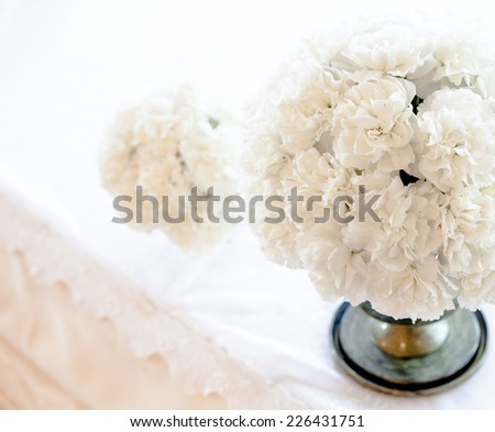 Wedding bouquet of pink roses and peony - stock photo
