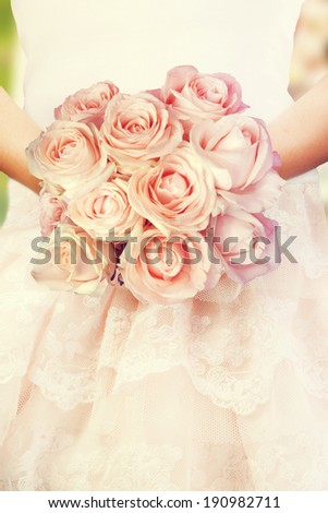 Wedding Bouquet of Roses  - stock photo