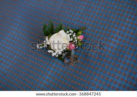 Wedding boutonniere - stock photo