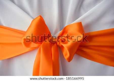 Wedding bow decoration - stock photo