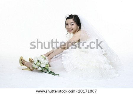 Wedding Bride Closeup
