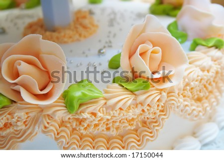 wedding cake background - stock photo